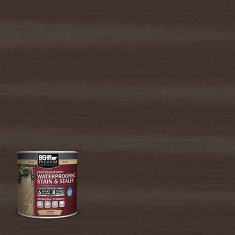 behr premium  oz st  padre brown semi transparent