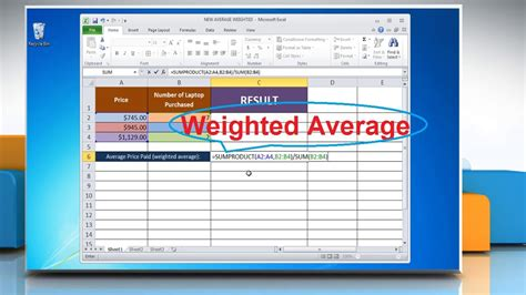 Search Warrant Canada Exle Using Weighted Average Formula In Excel 2010