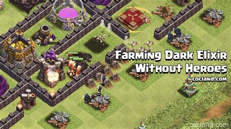 tutorial for copy player layout dead base search xmodgames farming dark elixir without heroes at th9 clash of clans