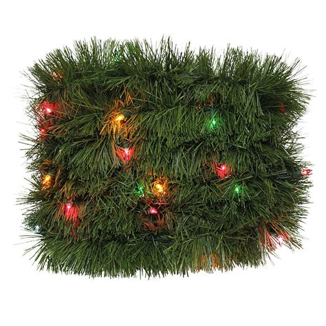 18 ft pre lit christmas garland with multi light color for