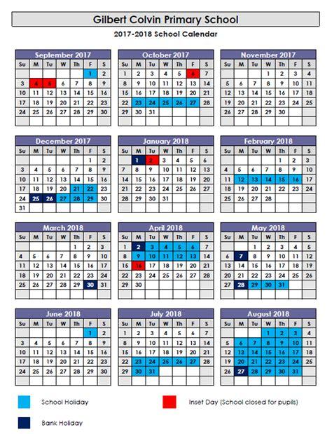 Cps Academic Calendar School Dates 2017 Uk Lifehacked1st