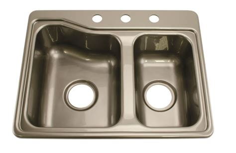 better bath 25 quot x 19 quot sink 3 holes silver