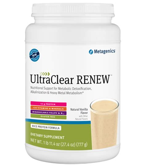 Renew Liver Detox Weight Loss by Metagenics 174 Ultraclear Renew Vanilla
