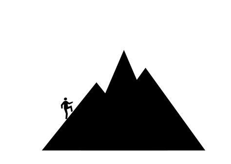 mountain clipart triangle clipart mountain pencil and in color triangle
