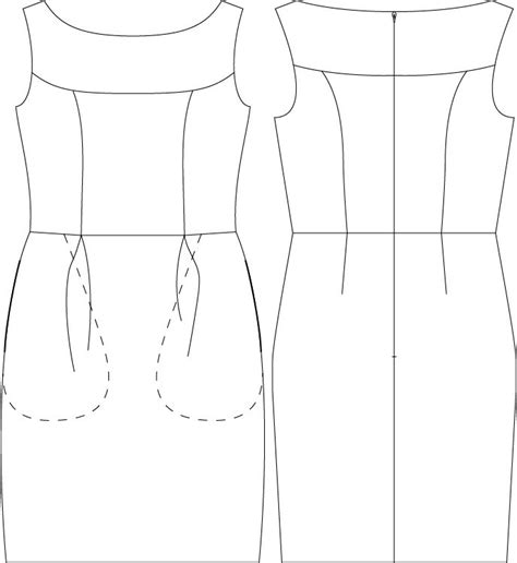 drawing pattern for sewing marbella dress digital sewing pattern pdf itch to stitch
