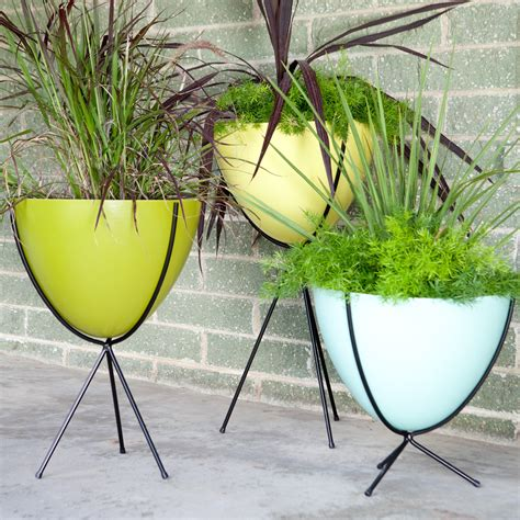 Bullet Planter hip retro bullet fiberglass planter with steel stand planters at hayneedle