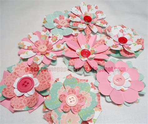 Scrapbook Paper Craft Ideas - 25 great ideas about scrapbook paper flowers on