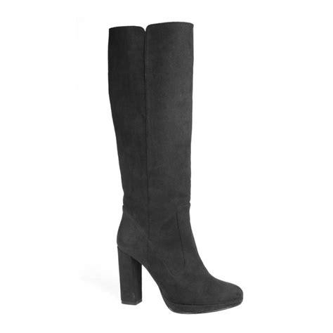 vegan quot suede quot knee high high heeled boots vegan shoe addict
