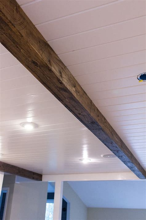 how to install wood beams on a ceiling best 25 faux wood beams ideas on faux beams