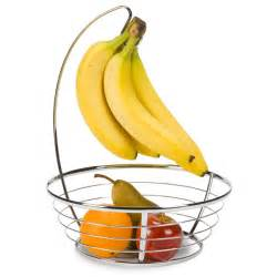 chrome banana holder bowl the container store