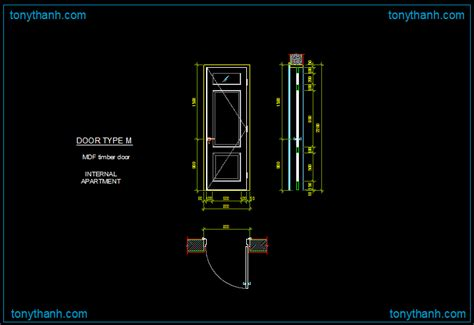 door section dwg autocad dwg of mdf door wooden door timber door single