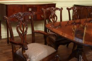 High End Dining Room Tables by High End Double Pedestal Mahogany Dining Room Table