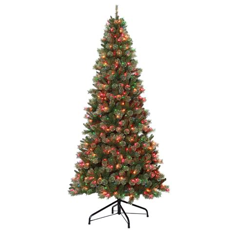 pre lit hinged christmas tree sears com