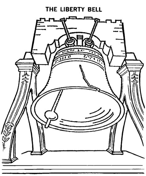 Liberty Bell Coloring Page Printable by Free Printable Bell Coloring Pages For