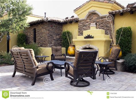 Home Outdoor Mansion Home Outdoor Plaza Patio Stock Images Image