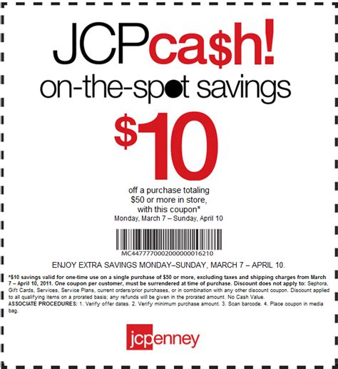 printable coupons for jcpenney my total avings 10 50 purchase at jc penney s