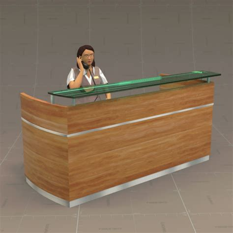 Revit Reception Desk Reception Desk 3d Model Formfonts 3d Models Textures