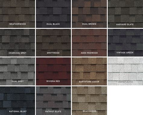 certainteed shingles colors chart 17 facts and tips on how to shingle colors courtesy