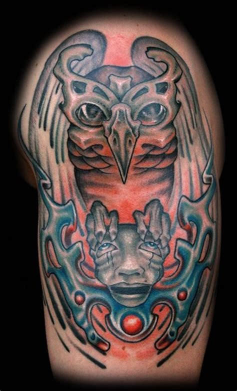 evil owl tattoo evil owl tattoos designs