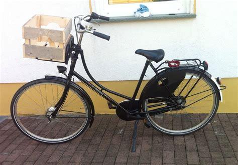 Fahrradkorb Nostalgie by Fahrradkasten Holz Hollandrad Fahrradkiste Front
