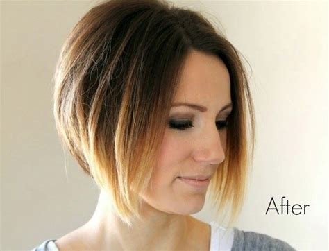 short angled ombre bob haircut hairstyles weekly