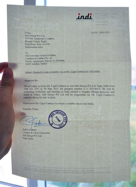 Visa Letter Of Invitation India Designing The Route 171 Designer On The Road