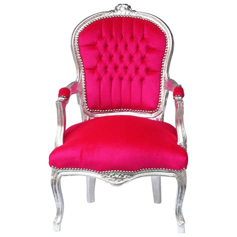 sessel stuhl salon chair baroque style in pink