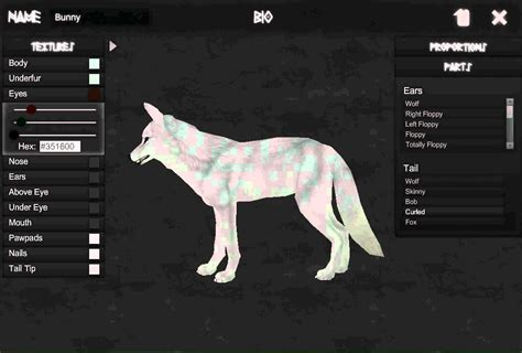 wolf maker design your own wolf arokai character creator bunny wolf youtube