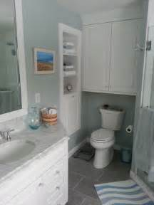 Built in shelving and wall cabinet traditional bathroom