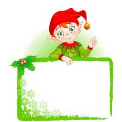 Clipart christmas elf frame royalty free vector design