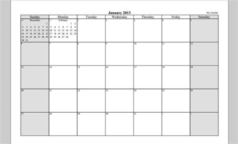 free download template daily calendar 2013 yearly