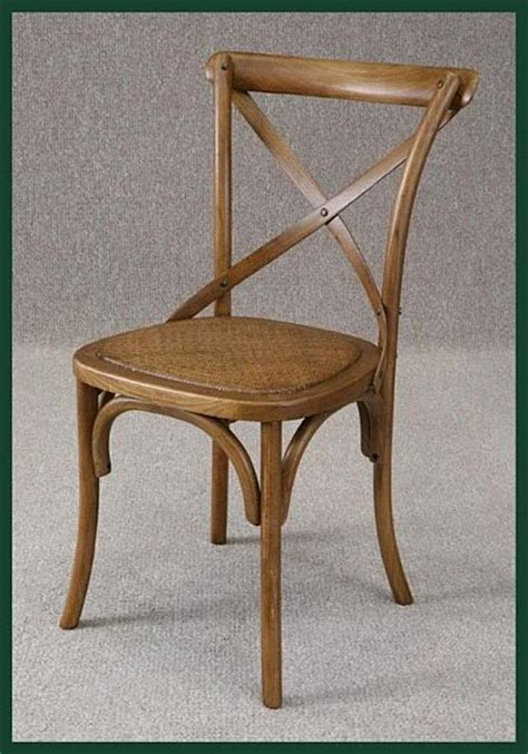 Bentwood Kitchen Dining Chair With Rattan Seat Cross Back Brentwood Dining Chairs