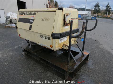 ingersoll rand p185wjd skid mount portable air compressor deere 4 5l repair ebay