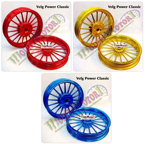 Velg Power Sun Vario 110 Dan Vario 125 velg power merah gold biru vario 125 150 metalic type classic