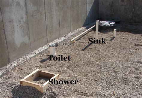 how to rough in a bathroom basement bathroom rough in