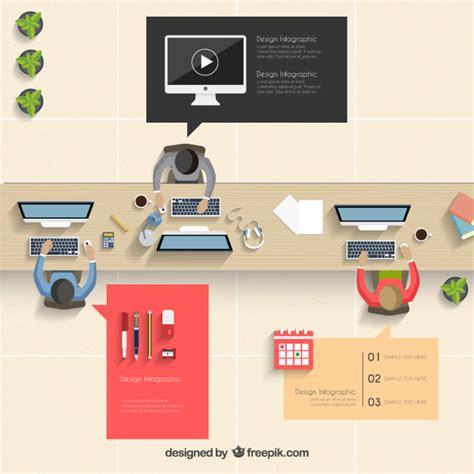 gratis ufficio ufficio infografica scaricare vettori gratis