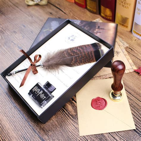 harry potter desk accessories harry potter feather pen with hogwarts admission