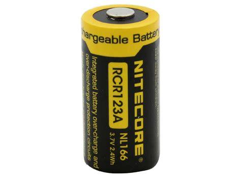 Nitecore Rcr123a Rechargeable Li Ion Battery 650mah 3 7 Diskon 1 nitecore rcr123a lithium ion button top battery