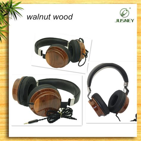 Headset Logo Oppo 35m Headset Earphone top quality fashion wooden gaming headset wooden