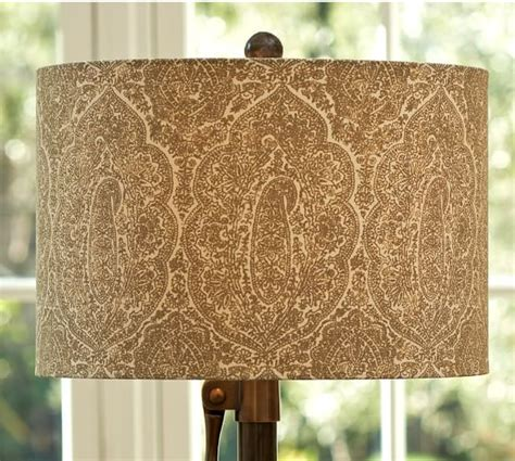 patterned drum l shades block print drum l shade pottery barn