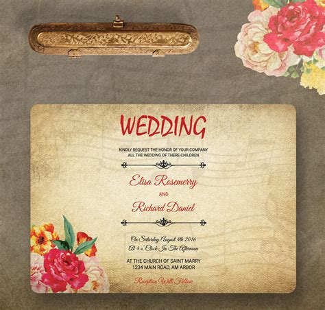 Wedding Invitation Whatsapp Message by 9 Free Wedding Invitation Templates Traditional Modern