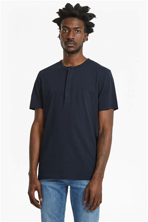 plain henley sleeve t shirt collections