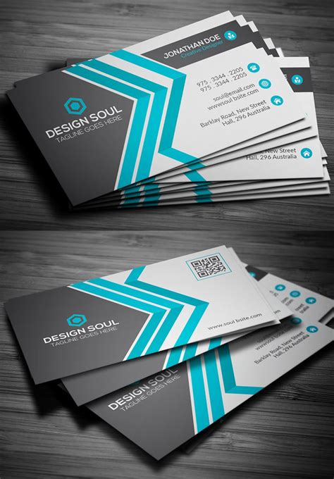 graphic business card templates 25 new modern business card templates print ready design