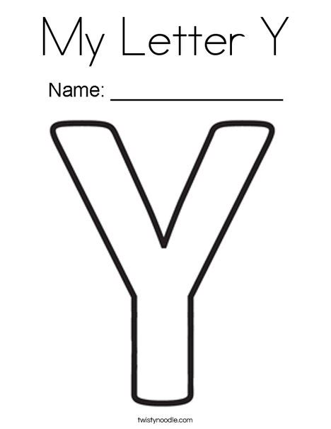 Letter Y Coloring Pages by My Letter Y Coloring Page Twisty Noodle