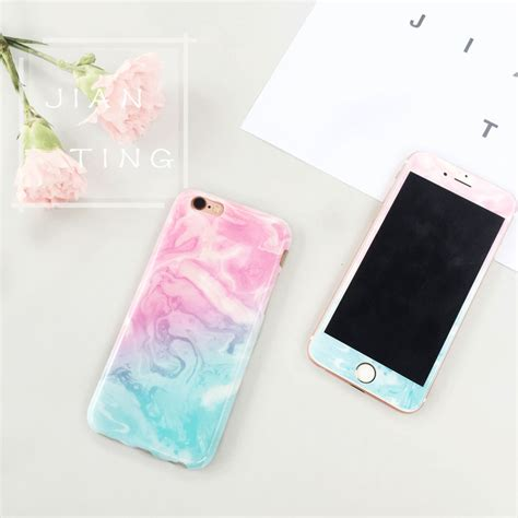 Kawaii Tempered Glass for marble design tempered glass cover for iphone 6 6s plus ebay