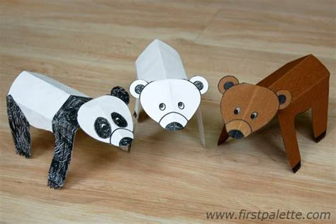 Animal Paper Folding - folding paper zoo animals craft crafts