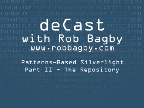 repository pattern with stored procedures robbagby channel 9