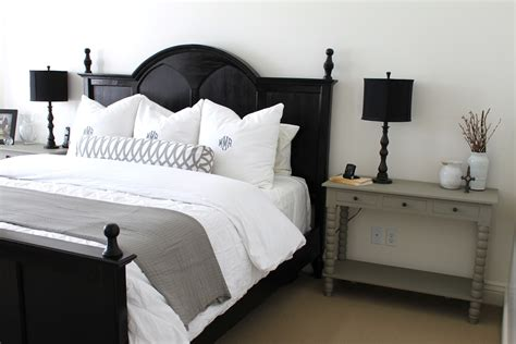 black white headboard bedroom fancy rustic bedroom decoration using white