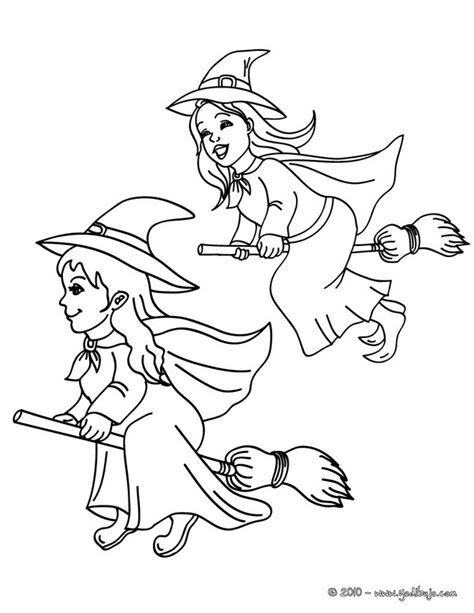 imagenes de brujas bonitas para dibujar dibujos para colorear amigas brujas en sus ecobas para