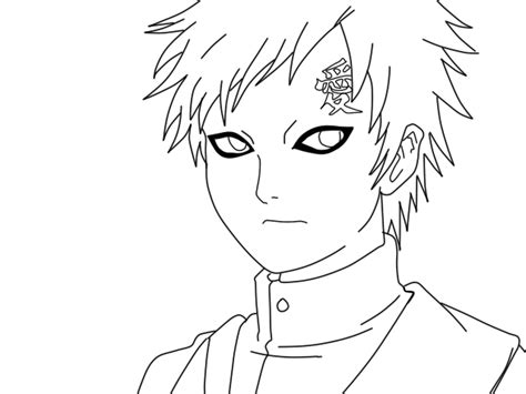 anime naruto coloring pages luiscachog me gaara lineart by thetocuto on deviantart